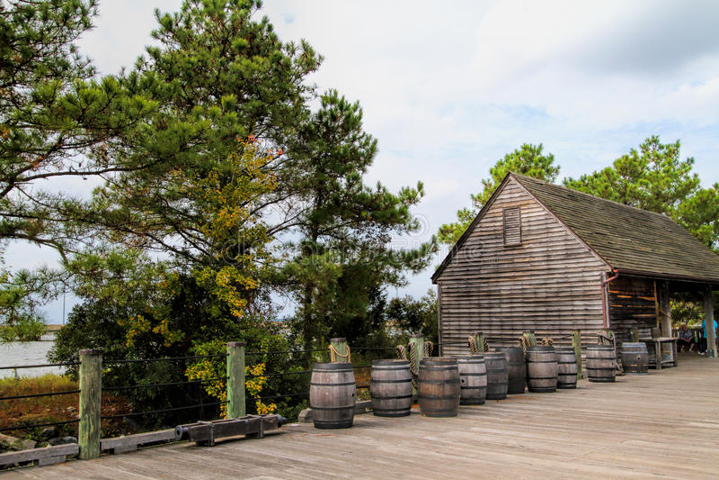 Doca e tambores do pagamento de Jamestown imagem de stock royalty free