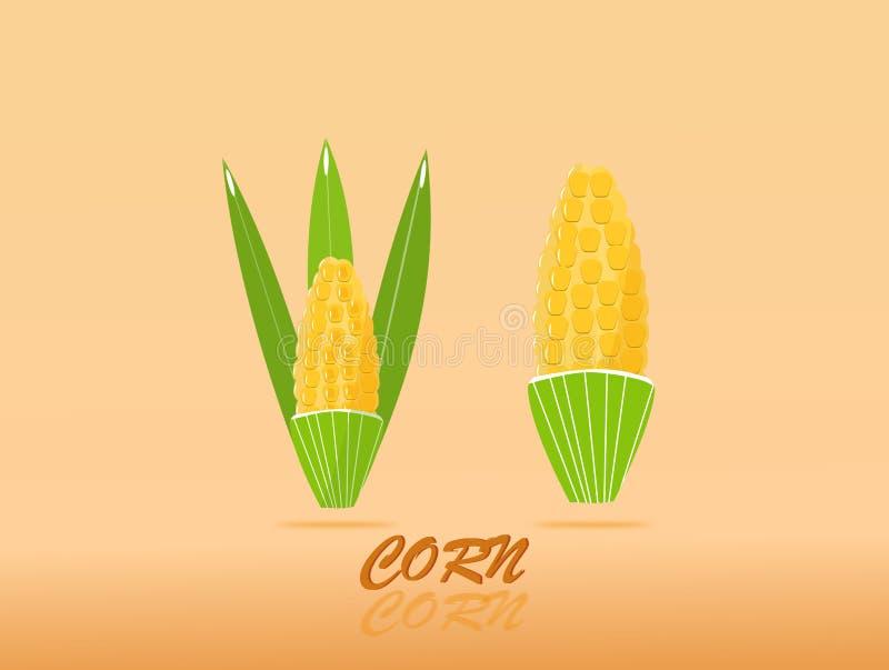 Doce de alta qualidade do projeto dourado do milho com beleza colorida Sinal da ilustra??o do vetor ilustração do vetor