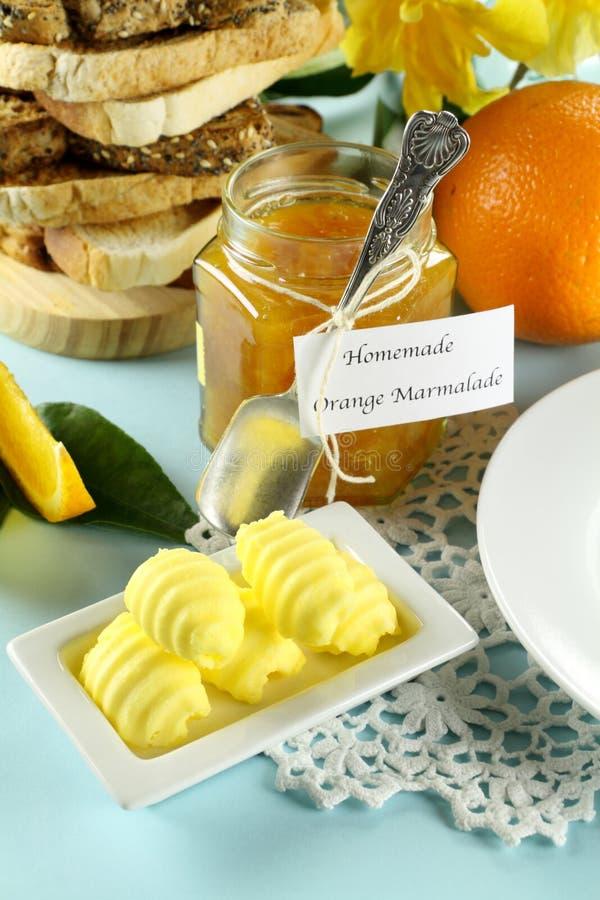 Doce de fruta e manteiga fotografia de stock royalty free