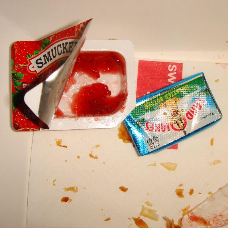 Doce e manteiga de morangos fotos de stock