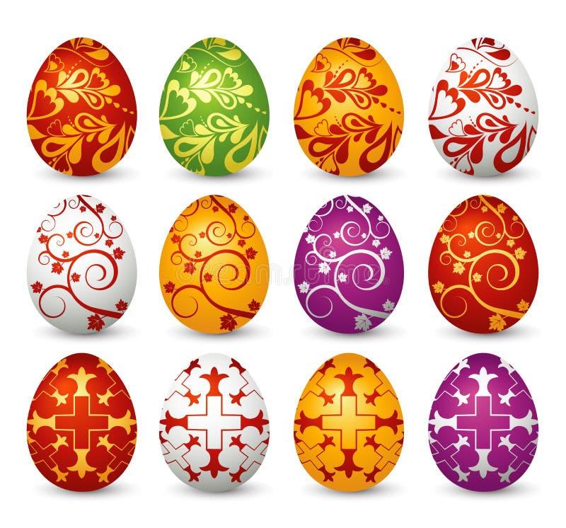 Doce huevos de Pascua, vector libre illustration