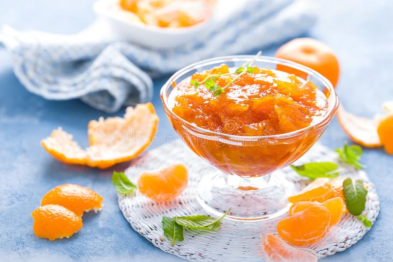 Doce saboroso da tanjerina Confiture da tangerina, marmelade foto de stock