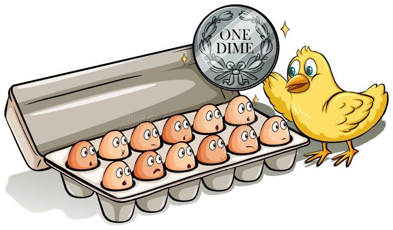 Docena de huevos ilustración del vector