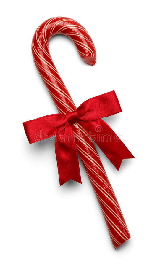 Doces Cane Red Bow fotografia de stock