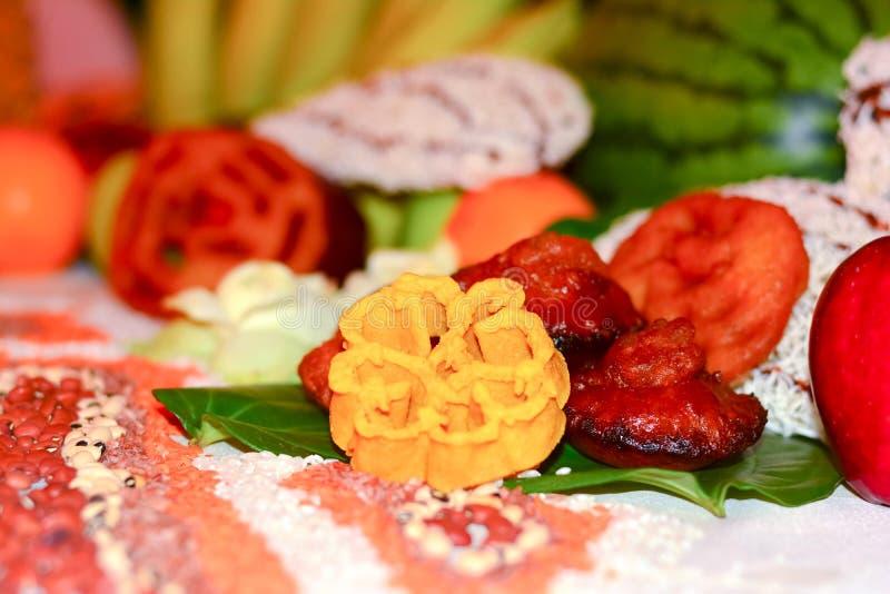 Doces cingaleses tradicionais do ano novo de Sinhala e de Tamil imagem de stock royalty free
