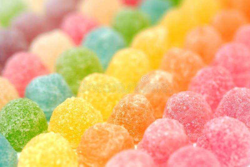 Doces coloridos da geleia de fruto fotos de stock