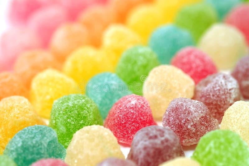 Doces coloridos da geleia de fruto foto de stock royalty free