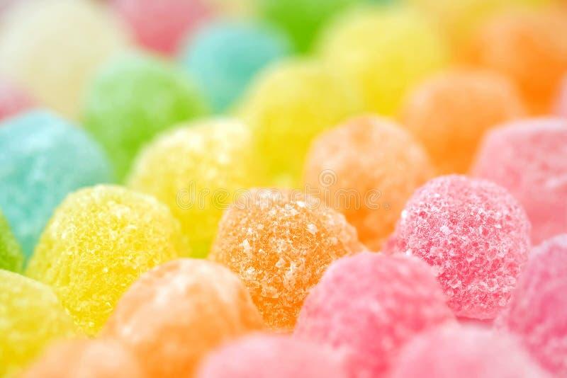 Doces coloridos da geleia de fruto fotografia de stock royalty free