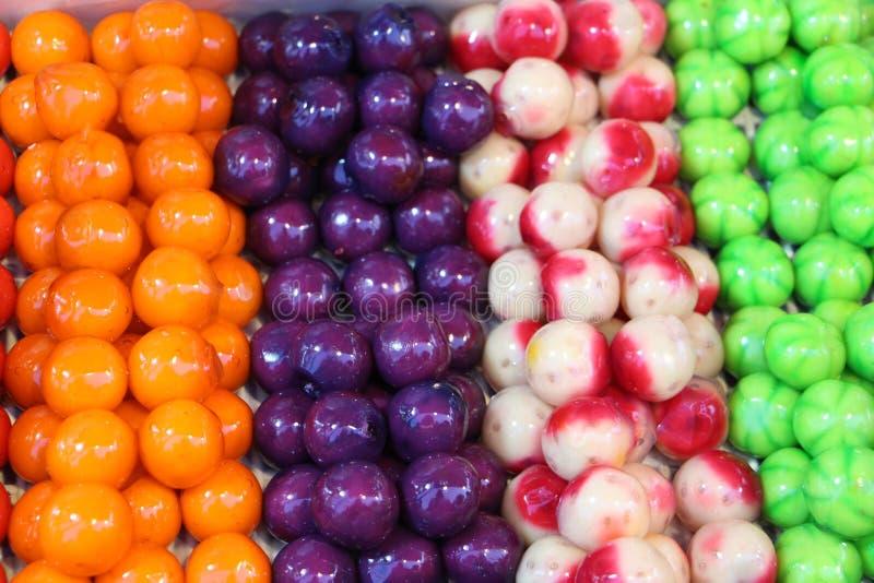 Doces coloridos do alimento fotos de stock royalty free