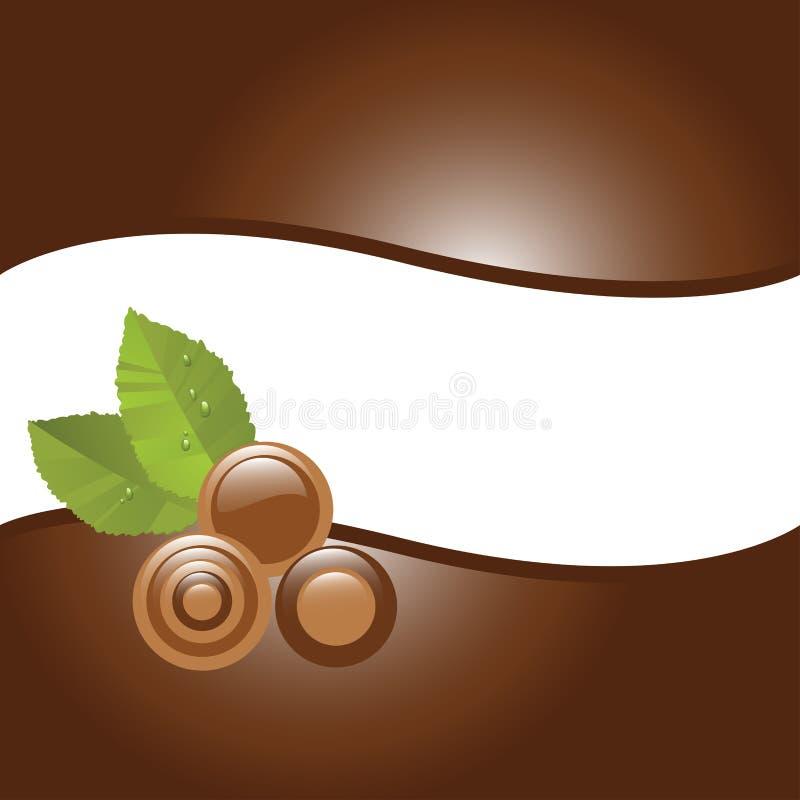 Doces de chocolate ilustração do vetor