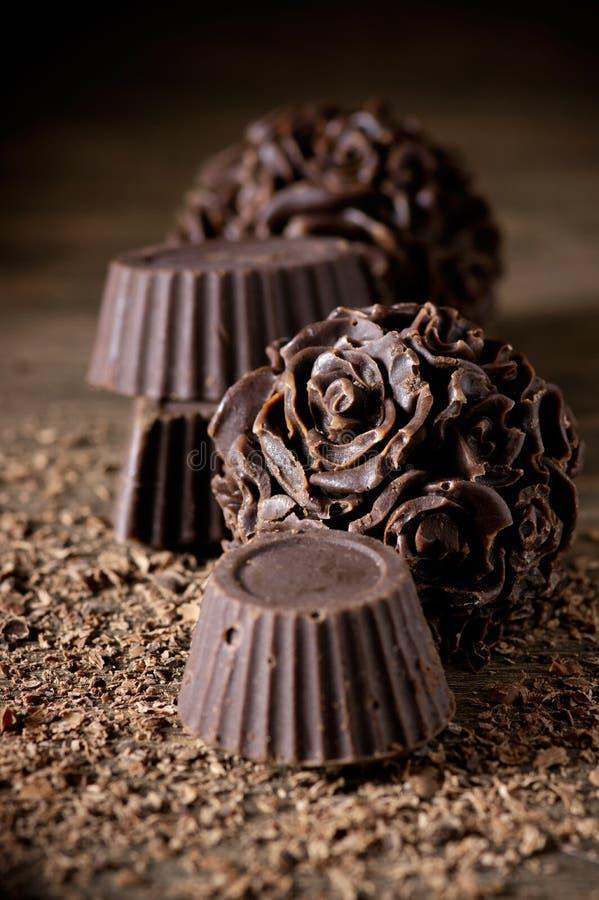 Doces de chocolate caseiros imagem de stock