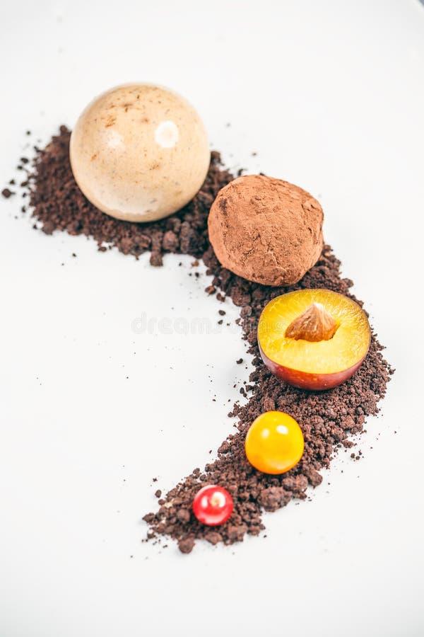 Doces de chocolate da trufa foto de stock royalty free