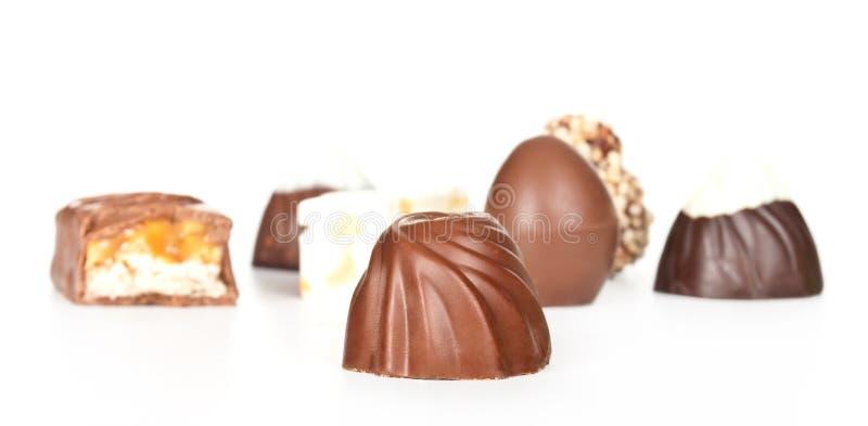Doces de chocolate isolados foto de stock