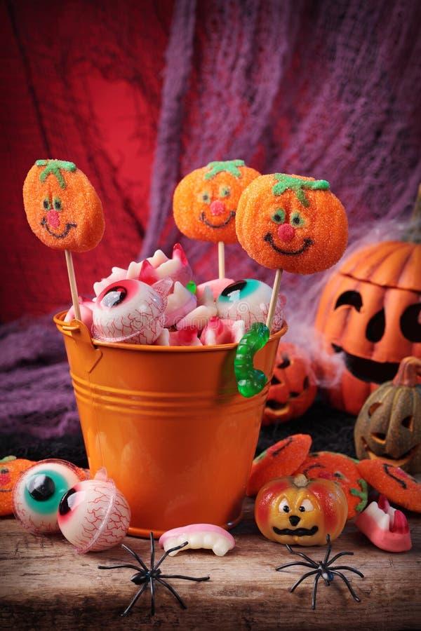 Doces de Halloween fotografia de stock