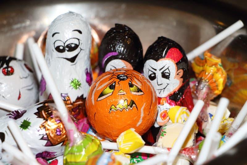 Doces de Halloween fotos de stock royalty free