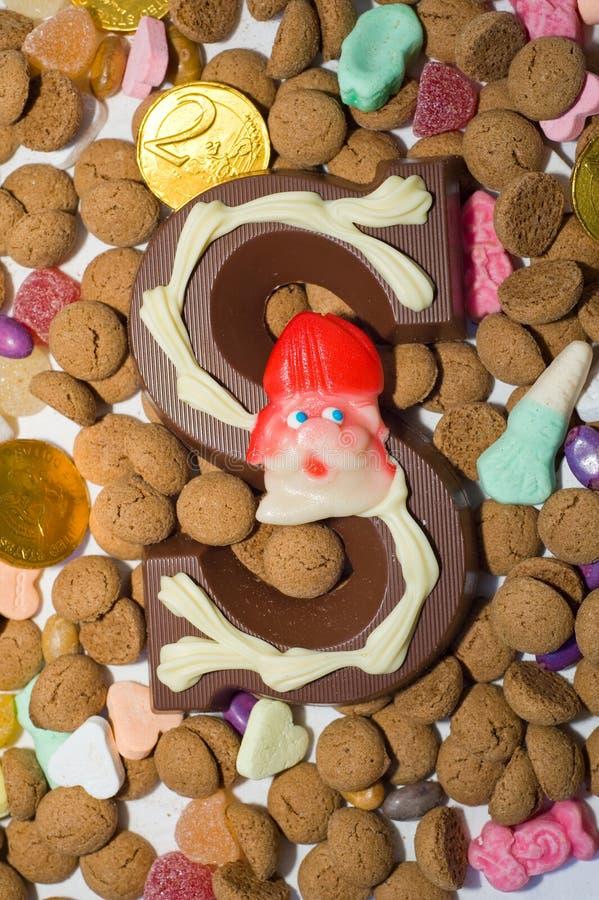 Doces de Sinterklaas fotografia de stock