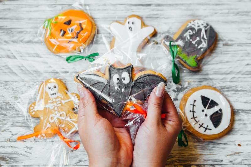Doces deliciosos para Dia das Bruxas para crianças imagens de stock