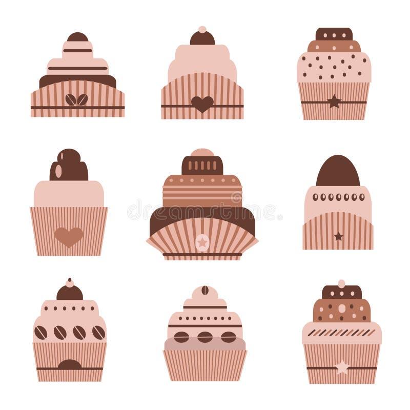 Doces do chocolate ilustração stock