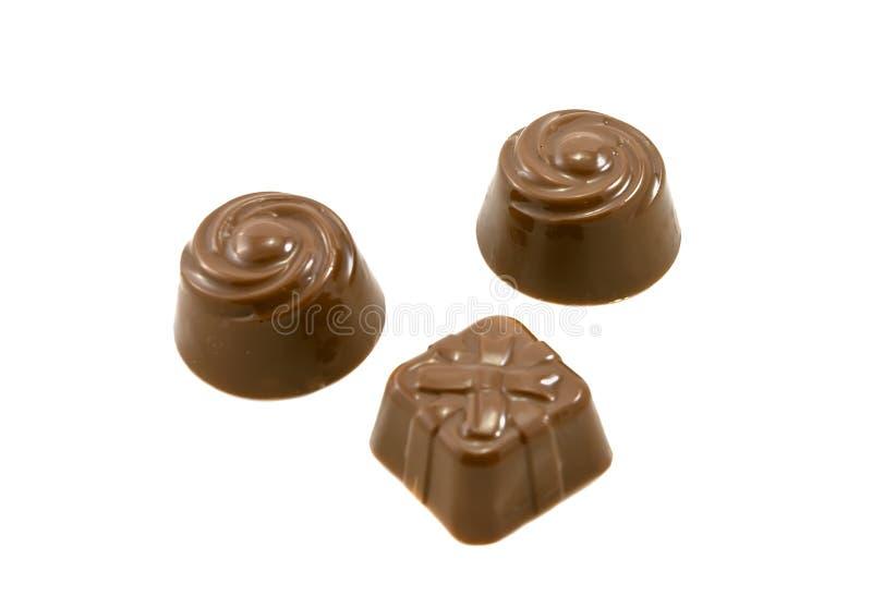 Doces do chocolate foto de stock