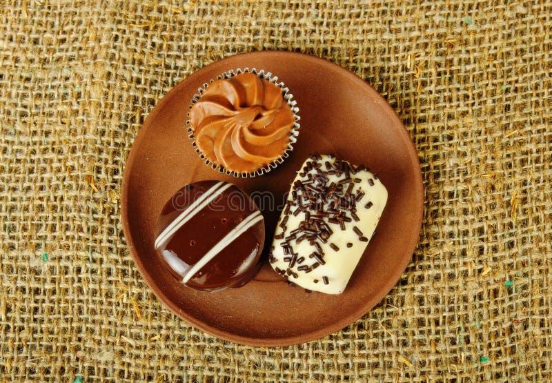 Doces do chocolate fotografia de stock royalty free