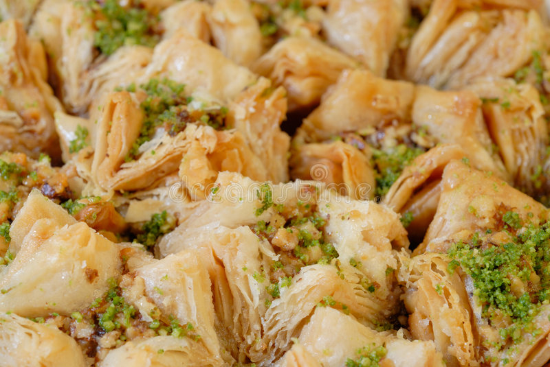 Doces do leste. Baklava fotos de stock royalty free