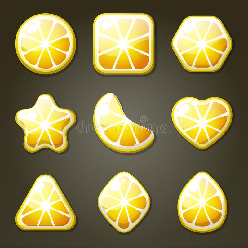 Doces do limão para o jogo do fósforo três ilustração royalty free