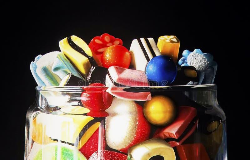 Doces doces coloridos fotografia de stock