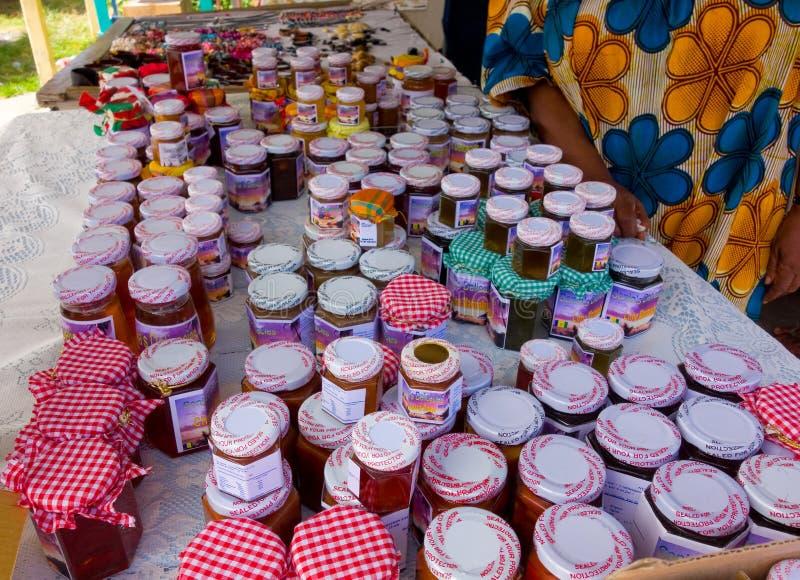 Doces e geleias do Local para a venda nas Caraíbas fotos de stock royalty free