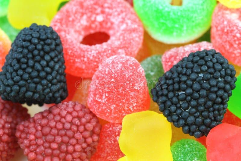 Doces gomosos coloridos deliciosos imagem de stock royalty free