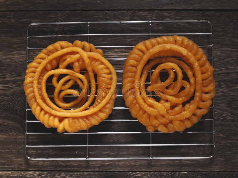 Doces indianos do jalebi fotografia de stock