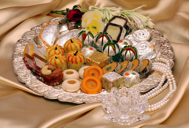 Doces indianos - Mithai imagem de stock royalty free