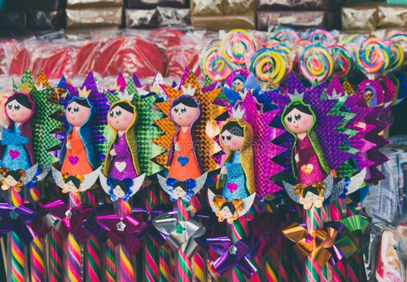 Doces mexicanos tradicionais da basílica de Guadalupe imagem de stock royalty free