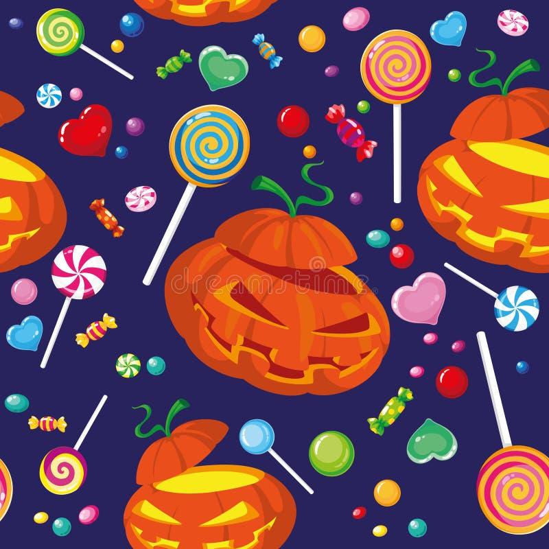 Doces sem emenda de Halloween ilustração royalty free