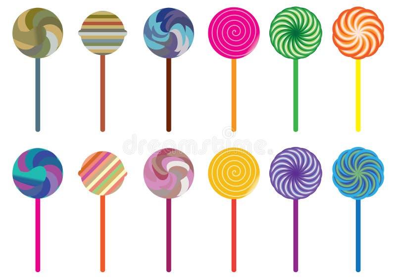 Doces Set_eps do Lollipop ilustração stock