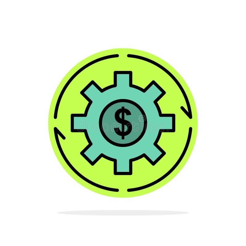 Dochód, kapitał, przychody, Robi, Robić, pieniądze, zysku okręgu Abstrakcjonistycznego tła koloru Płaska ikona ilustracja wektor
