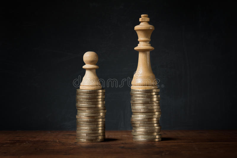 Dochód różnicy między bogactwem i biedą obrazy stock