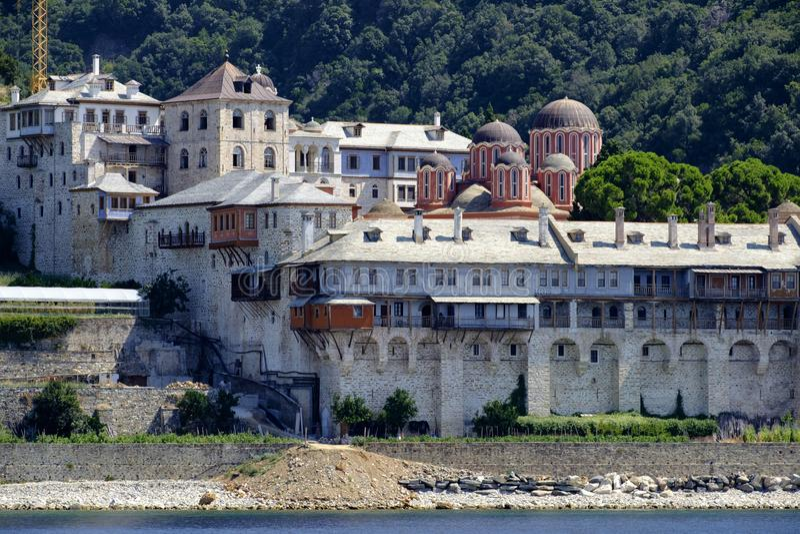 Docheiariou kloster royaltyfri bild