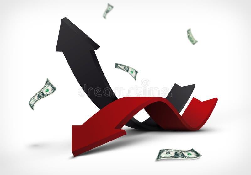 Dochodu wydatkowy abstrakcjonistyczny wykres ilustracja wektor