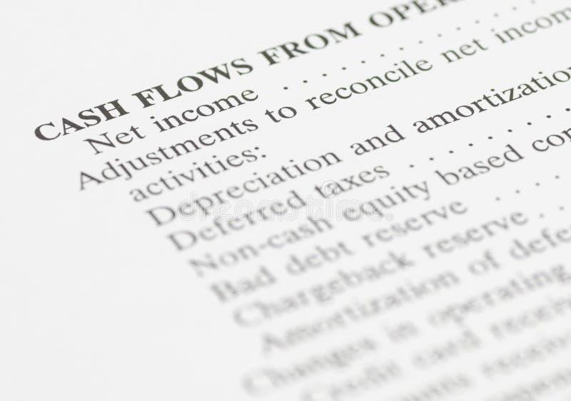 Dochody netto sprawozdanie finansowe obrazy stock