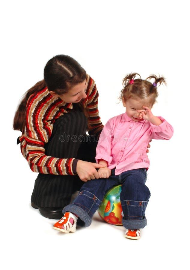 Dochter en moeder royalty-vrije stock afbeelding