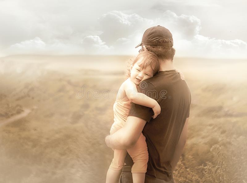 Dochter en vader stock fotografie