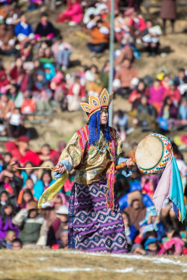 Dochula Druk Wangyel Festival 2014 royalty free stock photos