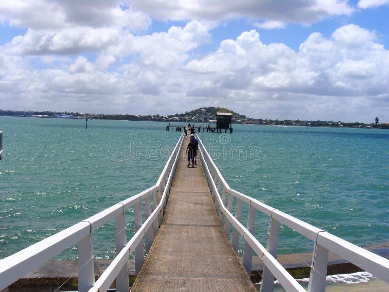 Dock à Auckland images libres de droits