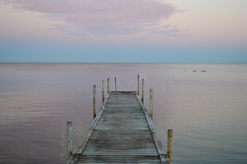 A Dock on Øresund Strait from Denmark royalty free stock photos