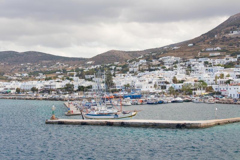 The dock on the Aegean sea royalty free stock photography
