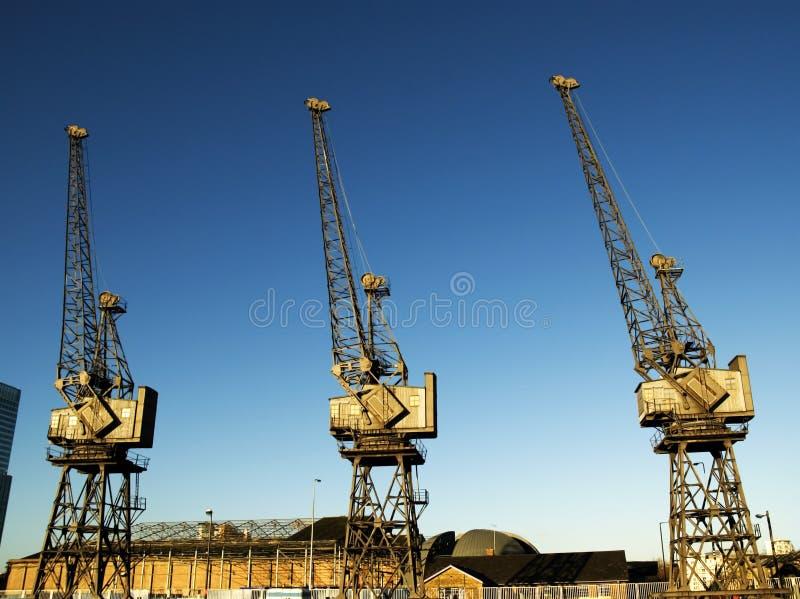 Dock crane stock photos