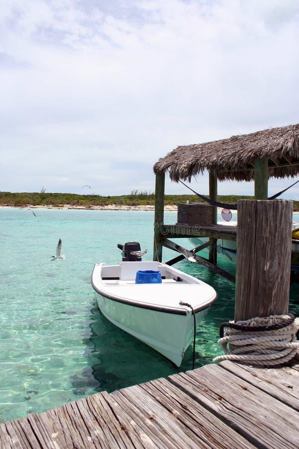 Dock de bateau de Bahama photo libre de droits