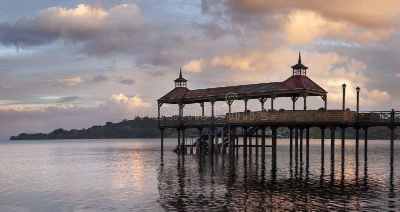 Dock de Frutillar, au Chili photographie stock