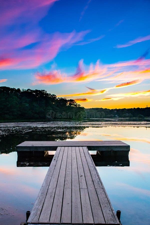 Dock de pêche chez Cape Cod le Massachusetts photographie stock libre de droits