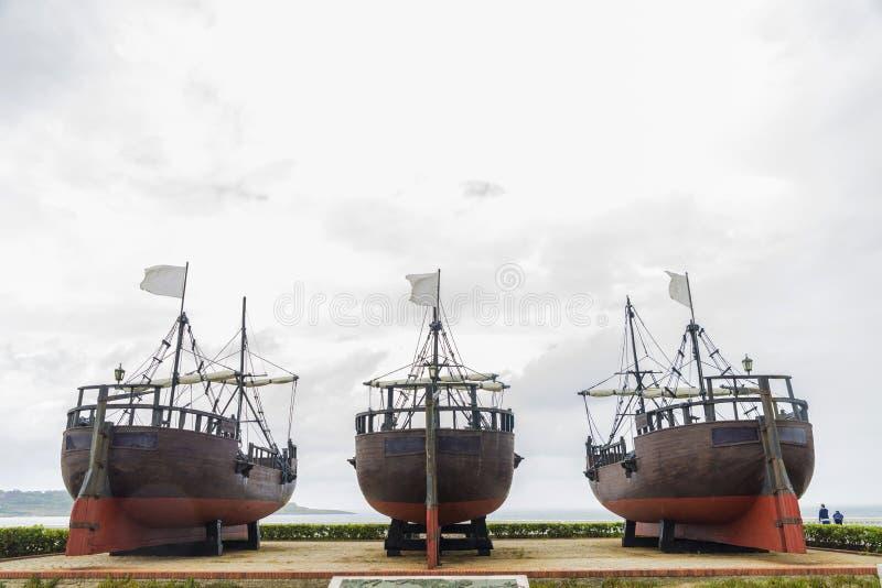 Dock des caravelles à Santander images libres de droits